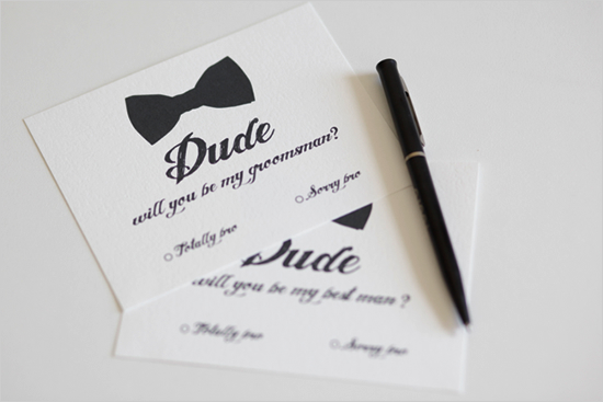 Will You Be My Groomsman And Best Man Cards From Wedding