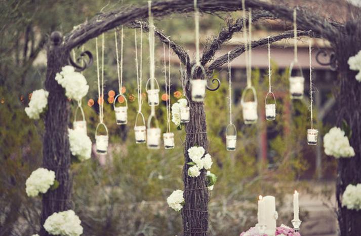 Vintage wedding ideas mason jars ceremony reception decor for Vintage wedding decorations