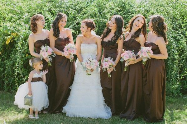 Southern Weddings Brown Bridesmaid Dresses