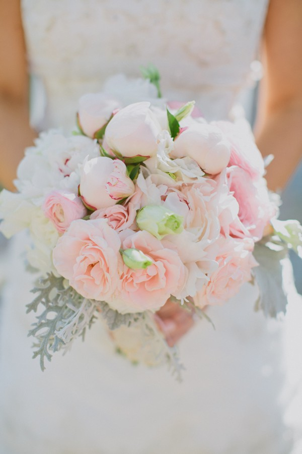 Light Pink Roses Wedding Bouquets : Southern weddings pink and white bouquet live what you love