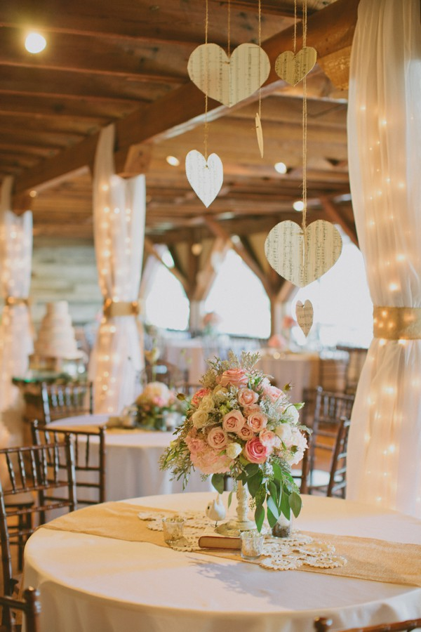 Southern Weddings Romantic Barn Decor