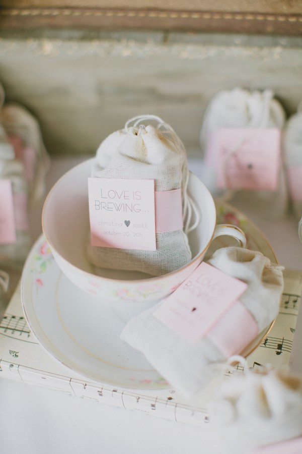 Southern Weddings Tea Favors Live What You Love