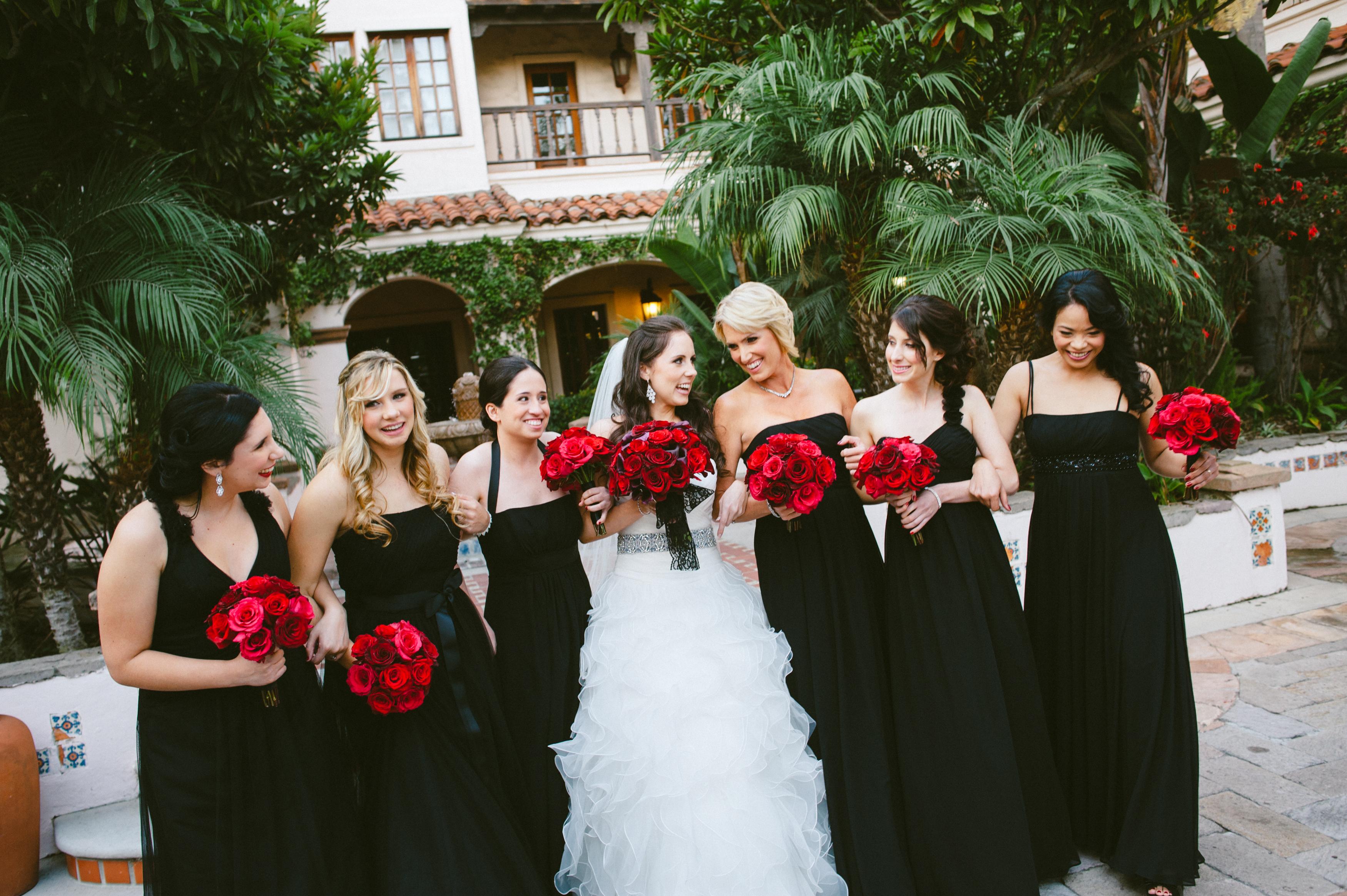 Black bridesmaid dresses bouquets black bridesmaid dresses with black bridesmaid dresses bouquets ombrellifo Images